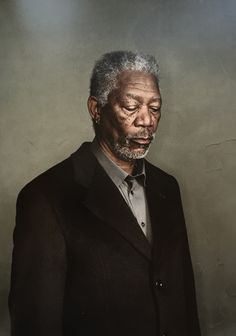 Morgan Freeman by Dan Winters 2006 (Dunway Enterprises) http://www.learn-to-draw.org/caricatures_clb.html?hop=dunway