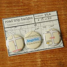 Road Trip Badges  Downtown Los Angeles No 18 DTLA by minorthread, $4.00