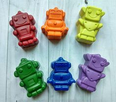 Robot Shaped Crayons, Robot Party Favours, Non-Toxic Crayons Robot Clipart, Crayons, Silicone Molds, Birthday Gifts, Clip Art, Shapes, Unique Jewelry, Handmade Gifts, Etsy
