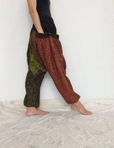 Harem Pants Women Yoga Pants Drop Crotch Aladdin Pants Maxi Pants Boho Pants Gypsy Pants Genie Jumpsuits Rompers Boho Black HP239