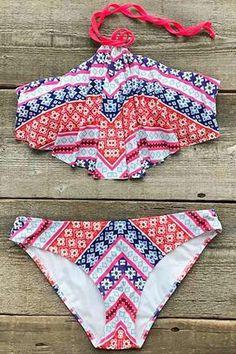 Cupshe Nothing is Perfect Halter Bikini Set
