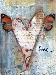 love this mixed media style art by blanche