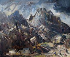 Tryfan: Cawodydd a Haul / Sunshine and Showers  Gareth Parry RCA  Oil on canvas 2012  50 x 60 cm