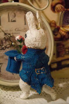 Коллекционные куклы ручной работы. Кролик с цилиндром . Ватная игрушка. 'Мишкин Чердачок'. Ярмарка Мастеров. Украшение, акрил