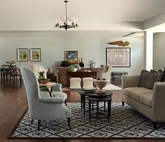 For my family room ceiling--with white paneling. Sherwin Williams Sea Salt.