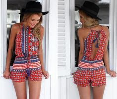 fitness-fits-me:  Printed Romper for $9.40 #fitness