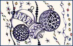 Zentangle ornaments!