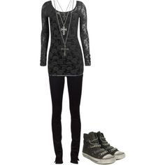 Untitled #558 by bvb3666 on Polyvore featuring Arden B., Paige Denim, Ash and GUESS