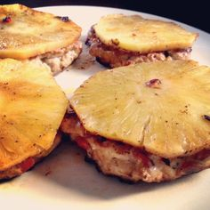 Pinterest recipe: Grilled Pineapple Turkey Burgers. Easy to make and a perfect meal for lunch. Added more peppers/onions and no liquid aminos. So fresh!