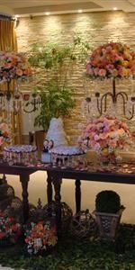 Festas - Mesa de bolo classica