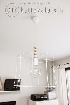 Magdan kotona: diy valaisin ja uusi kirppistuoli Diy Light Fixtures, Boho Diy, Diy Furniture, Craft Projects, Sweet Home, Lights, Diy Lamps, Interior, Room