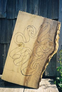 John McAbery - houtsnij proces - stap 1