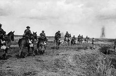 The Canadian Light Horse going into action at Vimy Ridge