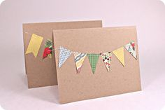 Looking for a really simple super easy card Here you go Supplies kraft cardstock patterned paper Echo Park - For the Record sewing machine white thread adhesive scissors pencil To start cut out your b Diy And Crafts Sewing, Crafts For Girls, Crafts To Sell, Diy Crafts, Glue Crafts, Wedding Crafts, Craft Tutorials, Craft Projects, Craft Videos
