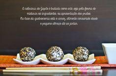"""Marmita: Bolinhas de """"sushi"""" com farinheira e tomate"""