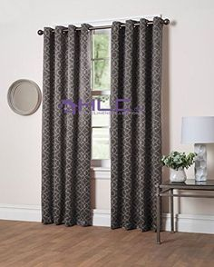 """HLC.ME Laura Thermal Insulated Blackout Grommet Top Curtain Panel - 84"""" inch Long (Charcoal Grey) HLC.ME http://www.amazon.com/dp/B01AH46F16/ref=cm_sw_r_pi_dp_7yg9wb1CT5FF9"""