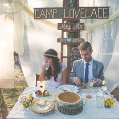 Loving the camp theme of today's real wedding! Love the signs the couple DIY'ed! Photo by @brettlovesellephotography #wisconsinwedding #realwedding #budgetsavvybride #campwedding #campthemewedding // See this post on Instagram: http://ift.tt/2fXRH83