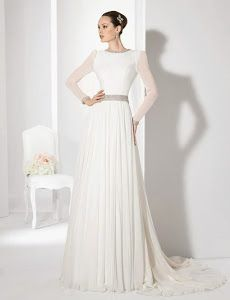 Vestidos de novia con manga larga. Si te vas a casar en días fríos, esta puede ser una buena opción. ¡Atenta a esta selección de 10 vestidos con manga larga para tu boda!