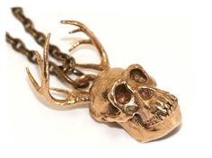 Hybrid Animals Oddities Jewelry Animal Skull by 3DPrintedSkull, $39.99