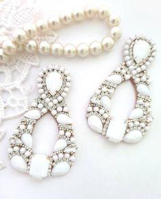 Rhinestone Earrings, Boho Earrings, Chandelier Earrings, Statement Earrings, Earrings Handmade, Handmade Jewelry, Stud Earrings, Handmade Bracelets, Handmade Items