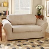 Found it at Wayfair - Stretch Suede Separate Seat Sofa Slipcover (Box Cushion)