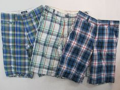 Old Navy & Cherokee Boys Shorts Lot of 3 Pair  Plaids & Checks Size 12  #OldNavy #Everyday