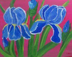 Blue Irises by Elizabeth Janus