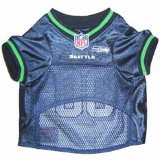 Seahawks dog jersey for true Seattle fans only. So cute for game day. <3