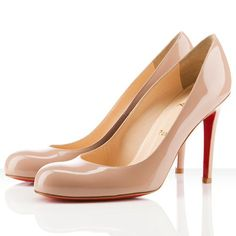 Christian Louboutin Pumps 100mm Patent Leather Nude