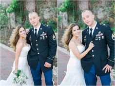 4th of July wedding by April B Photography!  What a good looking couple :)   Dress by Sealed With A Kiss www.sealedwithakissbridal.com