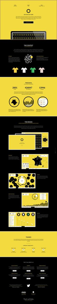 Unique Web Design, 100 Ans de Tour #WebDesign #Design (http://www.pinterest.com/aldenchong/)