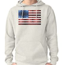 USA flag red blue sparkles glitters Hoodie (Pullover) by #PLdesign #4thofJuly #sparkles #USASparkles #SparklesGift #redbubble