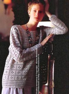 Пуловер крючком ...от Keito Dama. Обсуждение на LiveInternet - Российский Сервис Онлайн-Дневников