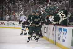 Zach Parise and the Wild celebrating a goal