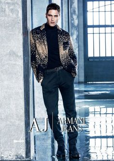 Armani Jeans FW16 Campaign Ft Italian Supermodel Fabio Mancini