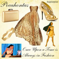 Disney Style: Pocahontas, Finally fashion that does her justice. the forgotten princess Disney Inspired Dresses, Disney Inspired Fashion, Character Inspired Outfits, Disney Dresses, Disney Fashion, Disney Clothes, Disney Princess Outfits, Disney Themed Outfits, Disney Bound Outfits