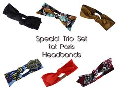 Trio Set - Headbands tot Paris - BBF Headbands, Trendy Wax Cotton Headband, Boho Style Headband, Special offer set, Summertime Chic set by totparis on Etsy