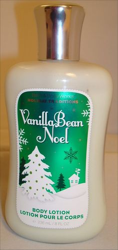 Bath & Body's Vanilla Bean Noel.  This is my favorite body lotion.  I love the smell!