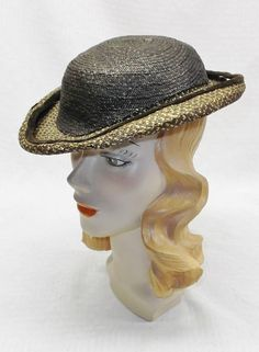 59bb3aeec1891 Antique Victorian 1860s-1870s Straw Hat from Paris Paper Lining