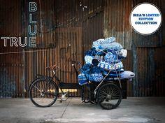 Blå Kollektion by Ikea. Worth checking I guess. Azul Indigo, Bleu Indigo, Mood Indigo, Textiles, Azul Anil, Pull Bleu Marine, Larkspur Flower, Blue Brown, Blue And White