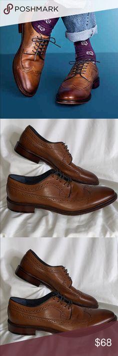 7fbd3fba70f Aston Grey Men s Size 12 shoe 1009219 Wingtips Aston Grey Men s Size 12 shoe  1009219 Tan Brown Leather Upper