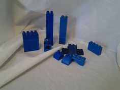 Mega Duplo Blocks Mixed Lot Blue Building Blocks Lot of 26 #MEGALegoDuplo