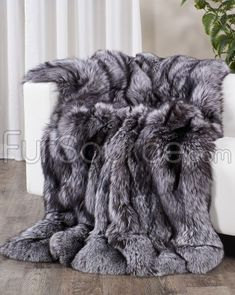 Shop FurSource for the best selection of Premium Full Pelt Fur Blankets. Buy Custom Full Pelt Silver Fox Fur Blanket / Fur Throw by FRR with fast same day shipping. Fur Bed Throw, Diy Throw Blankets, Fluffy Blankets, Fuzzy Blanket, Winter Blankets, Faux Fur Blanket, Faux Fur Throw, Grey Fur Throw, Grey Throw Blanket