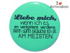 Spruchbutton-25mm-Ansteckbutton-Liebe+von+Buttons&Books+auf+DaWanda.com