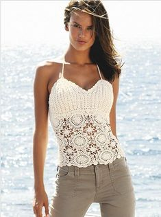 Lots of patterns! ***************** Outstanding Crochet: Crochet shoulder-strap tops. Pattern.