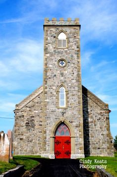 Built in The oldest stone Gothic Revival style church in Newfoundland and Labrador, Canada. Newfoundland Canada, Newfoundland And Labrador, Anglican Church, Old Stone, Place Of Worship, Temples, Gothic, Old Things, Bucket