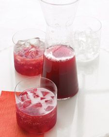 Pomegranate champagne punch-- another possible signature drink at the wedding??