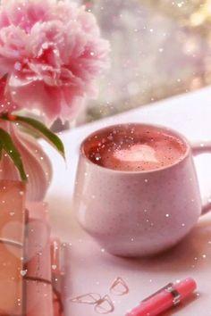 Good Morning Coffee Gif, Good Morning Love, Good Morning Greetings, Good Morning Images, Beautiful Flowers Wallpapers, Beautiful Gif, Gif Noel, Good Morning Animation, Coffee Music