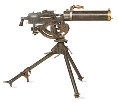 The .30 caliber M1917 Browning water-cooled machine gun