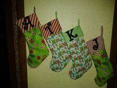 Personalized stockings www.facebook.com/bigheadsuniqieboutique #handmade